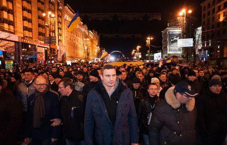 ויטלי קליצקו - האם אלוף העולם לשעבר באגרוף יהפוך לנשיא הבא של אוקראינה? צילום: מיטיסלב צ'רנוב